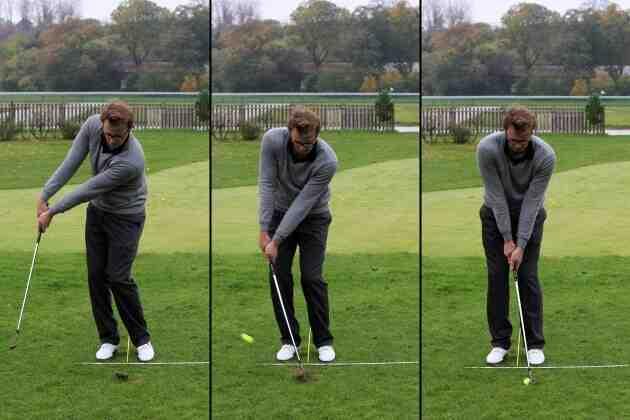 Comment frapper la balle directement sur le terrain de golf?