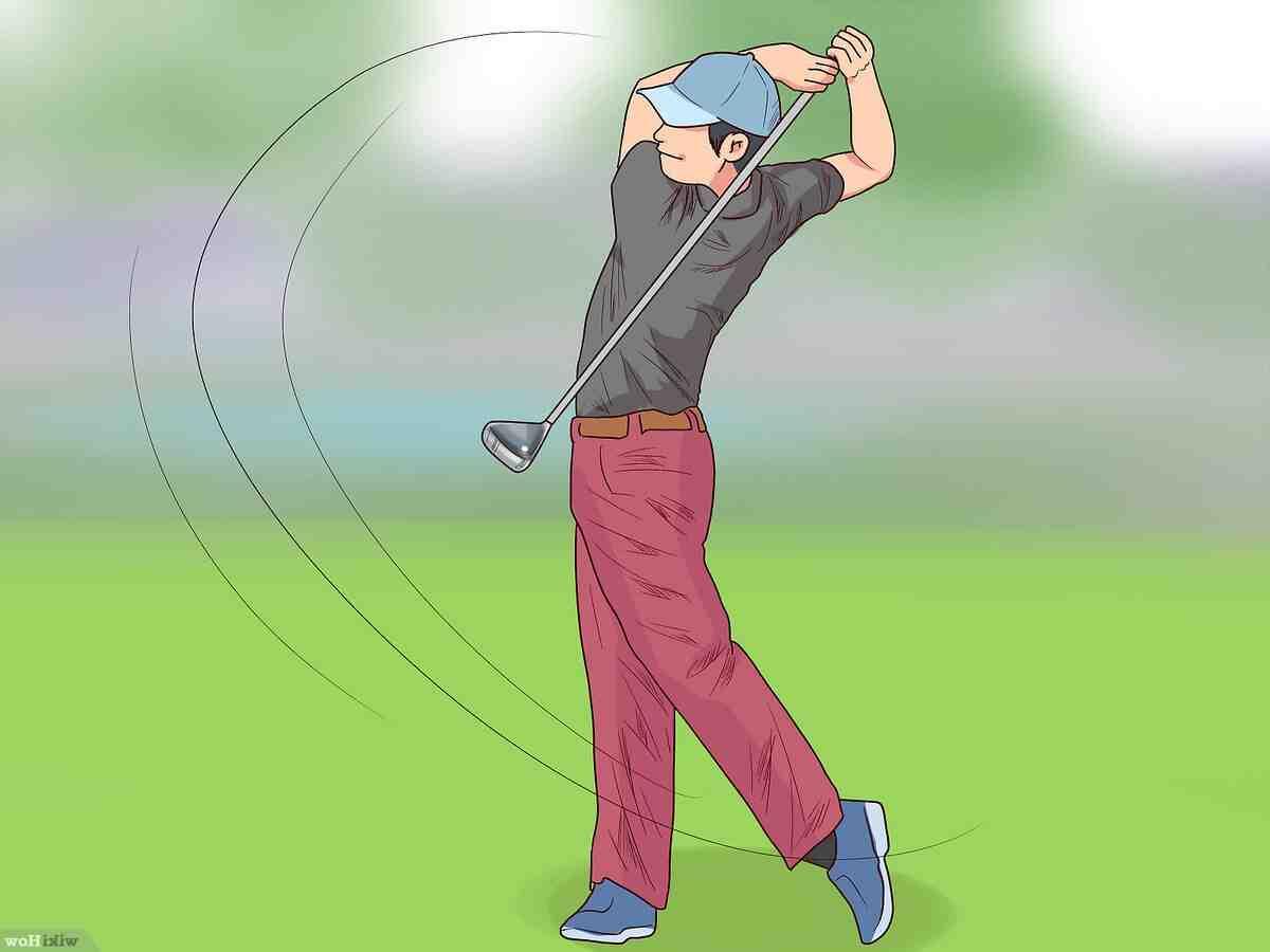 Comment frappez-vous une balle de golf?